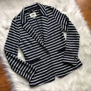 Striped navy and white blazer size S